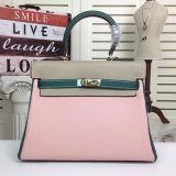 Bolsas elegantes de venda quentes Emg4811 da colisão da cor dos sacos de ombro das mulheres de couro