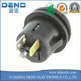 Metal LED que traba el interruptor eléctrico de la potencia del pulsador
