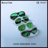 Zichtbare Lichte Overbrenging 35% van de Bril van de Veiligheid van de Laser van de Beschermende brillen van de Veiligheid van de Laser voor de Rode Lasers van 635nm + de Lasers van de Dioden van 808nm /980nm met Wit Frame 52