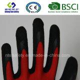 Перчатки безопасности латекса пены покрынные садовничая