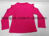 女の子CVCの長い袖のDoraのTシャツ