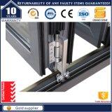 Portelli di alluminio del dispositivo di piegatura di disegno Bifold insonorizzato lustrati doppio standard dell'Australia
