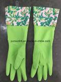 Перчатки чистки резиновый с подгонянным тумаком