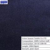 Prodotto intessuto saia tinto 290GSM del cotone del cotone 16*10 108*56 dei vestiti del Workwear