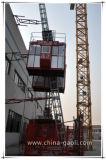 Elevador da grua da construção do material & do passageiro do estilo da curva do uso de Gaoli Pecial