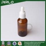 Botellas de aceite esencial 50 ml Amber Glass con cuentagotas blanco
