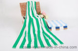 100%年の綿の縞浜の浴室タオル