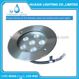 316 el acero inoxidable IP68 impermeabiliza la luz subacuática ahuecada LED