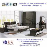 Guangzhou último diseño dormitorio de madera simple conjunto de muebles de casa (F05 #)