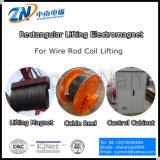 Elettromagnete di sollevamento rettangolare bipolare per il sollevamento a temperatura elevata della bobina della vergella