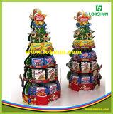 Visualización formada árbol de navidad de la paleta del papel de la cartulina