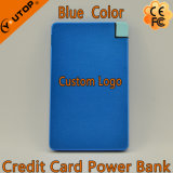 Bateria de cartão de alumínio Power Bank / Mobilephone para presentes da empresa