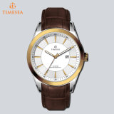 Brand Fashion Leather Trap Watch Mens Moda relógio casual 72234