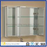 Vidrio de flotador claro tamaño pequeño al por mayor grande con el empaquetado de madera del caso