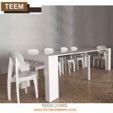 4를 위한 좋은 가격 확장 가능한 테이블 디자인 나무로 되는 식탁