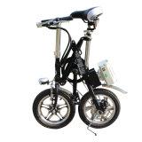 E-Bicicleta de dobramento da liga 14inch de alumínio/mini bicicleta de dobramento de dobramento da movimentação da bateria da bicicleta/lítio