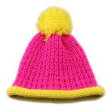Sombrero del bebé de la gorrita tejida del casquillo que rebordea 14021