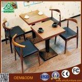 Lederner Kaffeetisch und Stuhl mit hölzernen Speisetisch-Entwürfen verwendeten Kaffeetische für Verkauf