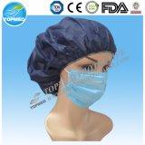 azul / / blanco no tejido desechable de 3 capas máscara verde con gancho