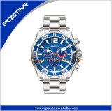 極度の明るい白熱外科スチール・ケースの人のスポーツの腕時計