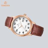 Il quarzo d'acciaio guarda l'uomo di lusso Watches72622 Analog della cinghia di cuoio degli uomini