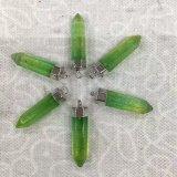 Colgantes cristalinos mezclados clasificados de los encantos de los collares de la piedra preciosa del pilar