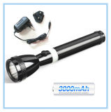 Linterna Ni-CD recargable de la potencia LED de la batería 3W de la antorcha de aluminio de la alta calidad