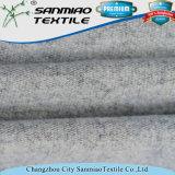 Indigo spandex de algodón de punto de lijado Terry Tela