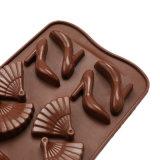 El molde material del silicón de la categoría alimenticia del certificado del nuevo producto FDA, los zapatos de tacón alto formó el molde de /Chocolate del molde del pudín del silicón de la dimensión de una variable del bolso de la dimensión de una variable de /Fan