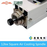 Мотор шпинделя изготовления 12kw квадратным охлаженный воздухом высокоскоростной трехфазный асинхронный для деревянного высекая маршрутизатора CNC