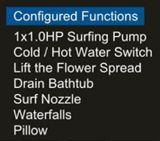 vasca calda moderna quadrata di 1700mm (AT-6003)