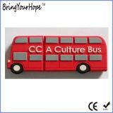 2D Azionamento di gomma di memoria del USB di figura del bus di disegno (XH-USB-119)