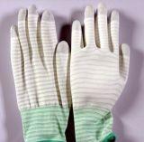 Guanti antistatici rivestiti della palma di nylon dell'unità di elaborazione del locale senza polvere