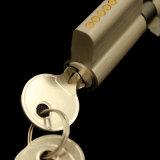 Cilindro de cobre amarillo lleno del cilindro del bloqueo de puerta del banco de estirar del níquel
