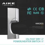 Essiccatore ad alta velocità automatico fissato al muro della mano del getto dell'aria dell'elettrodomestico AK2631 per la stanza da bagno