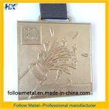 Médaille faite sur commande pour demi de marathon avec le nickelage et la bande