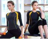Mujer Fitness Dos tonos 92% Nylon 8% Spandex Sportwear Yoga Camisa