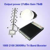 impulsionador do sinal do telefone de pilha de 23dBm 2g/3G/4G, tri repetidor do sinal da faixa, tri amplificador do sinal da faixa