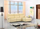 Sofa de cuir véritable de salle de séjour (C715)