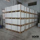 Panneau de mur en pierre de marbre blanc nano décoratif de Kkr (M1610031)