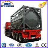 三車軸原油かディーゼルガソリン燃料を運ぶための頑丈なタンク容器