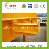 12m 3axle Lowbed Semi Trailer con Extention Device