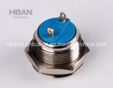 세륨 RoHS 16mm Pin Terminal Push Button Switch