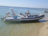Fibra de vidrio inflable de Hypalon del blanco de Liya los 6.2m pequeña que pesca el barco rígido del casco