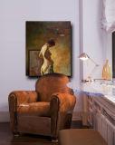 Mujer descubierta al por mayor en Canva para la pintura al óleo desnuda hecha a mano del arte de carrocería femenina