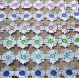 Lacet multiple de broderie de couleur de filé de lait de mode pour le vêtement