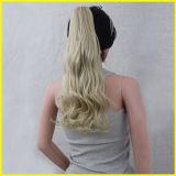 Di modo Ponytail sintetico ondulato dorato della parte dei capelli lungamente