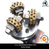 Diamante Floor Bush Hammer Roller Plate con 45 Pins