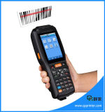 Terminal tenu dans la main de position de Bluetooth d'écran tactile avec l'androïde de scanner de code barres de l'imprimante PDA
