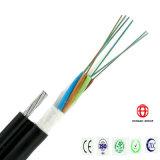Câble de fibre optique extérieur de 12 faisceaux avec le messager échoué de fils d'acier